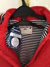JoJo Maman Bebe 4-5 ans garçon fille rouge Fisherman's manteau imperméable à capuche