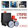 90-120psi 20A 4 Port HeavyDuty Air Compressor Pressure Switch Control Valve AU