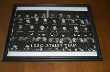 1920 DECATUR STALEYS CHICAGO BEARS FRAMED B&W TEAM PRINT