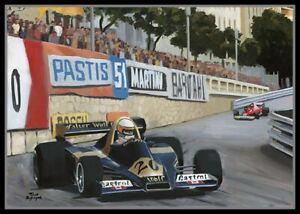 Painting 1977 Monaco Grand Prix by Toon Nagtegaal