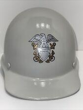 Msa Ratchet Suspension Skullgard Cap White With Navy Emblem