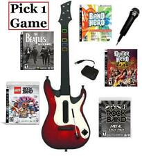 NEW PS3 Guitar Hero 5 Controller Microphone & 1 Guitar Hero/Rock Band Game Combo