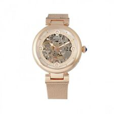 Empress Adelaide Women's Automatic Skeleton Rose Gold Mesh Watch EM2503