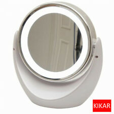 Desktop LED Double sided Swivel Cosmetic Makeup Mirror Lady Beauty Facial Light