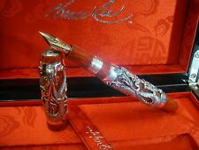 MONTEGRAPPA LIMITED EDITION BRUCE LEE THE DRAGON SOLID SILVER FOUNTAIN PEN GREA