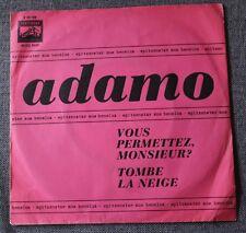 Adamo, vous permettez monsieur / tombe la neige, SP - 45 tours import