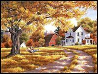 Days of Autumn - Chart Counted Cross Stitch Pattern Needlework Xstitch DIY Craft