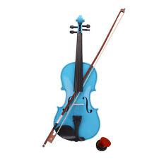 More details for brand new maple 4/4 acoustic violin case bow rosin strings tuner shoulder rest