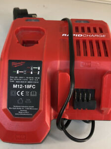 Milwaukee M12-18FC 18v Rapid Fast Battery Charger