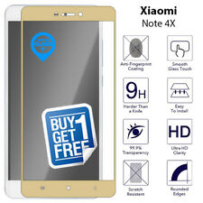 2 X for XIAOMI REDMI Note 4x Full Tempered Glass Screen 9h Protector Film Gold