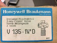 """Honeywell Braukmann V135 - 11/4"""" D IG 3-Wege Dreiwege Mischventil Restposten"""