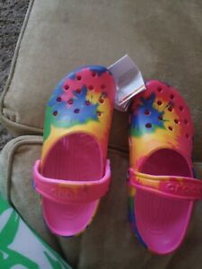 Crocs   Classic Tie Dye Clog [Electric Pink/Multi] #205453 (M6/W8)