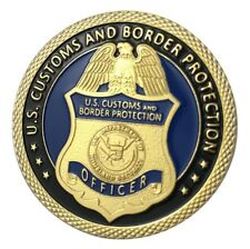 U.S. Customs And Border Protection CBP   Homeland Security   Gold Plated Coin
