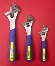 "IREGA  Model 92  Adjustable Wrench Set 3pc 6"" 8"" & 10"" w/Ergotop Grip - NEW"