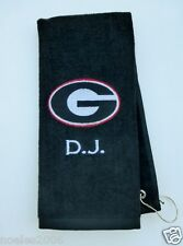 Personalized Embroidered Golf Bowling Workout Towel Georgia Bulldogs