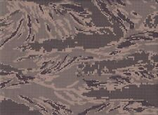 Digital Tiger Stripe Camo Ripstop Fabric by the Yard - CAMO502