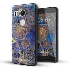 Nexus 5x case,Lizimandu TPU 3d pattern Case for Nexus 5x(Blue Flower)