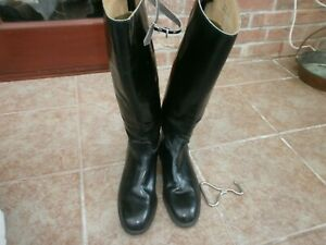 Loveson tall riding boots size 9 1/2  leather sole excellent condition - puller