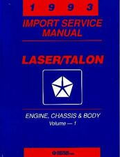 Oem Repair Shop Manual Bound For Plymouth Laser 1993