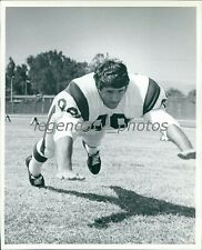 1969 Rick Cash Los Angeles Rams Defensive End Original News Service Photo