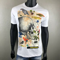 DSQUARED 2 Graphic Skull Illustration Prin T-shirt S71GD0761S22507 Men DSQUARED2