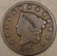 1827 Coronet Large Cent G
