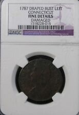 1787 Connecticut Copper Colonial Coin NGC Certified FINE Details * US Coin #1981