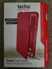 OEM Tech21 Impactology Classic Wallet case for Samsung Galaxy Note 4 Pink !