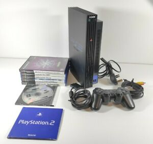 Sony Playstation 2 SCPH 50003 Console + Controller + Cables + 6 Game Bundle PS2