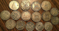 LOT OF 16 GREAT BRITAIN AND CANADA SILVER COINS LOT OF 16 COINS