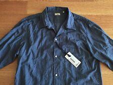 CAMOSHITA UNITED ARROWS Blue Basket Pajama Camp Shirt Size 41 US L Large $375