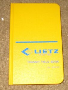 Vintage Unused Lietz Transit Field Book
