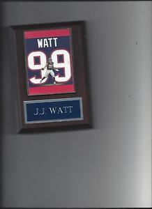 J.J. WATT JERSEY PLAQUE HOUSTON TEXANS FOOTBALL NFL