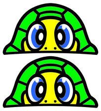 Valentino Rossi Turtle Peeking Sticker x2 37mm x 20mm