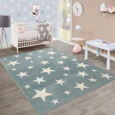 Kids Stars Rug Nursery Pastel Meadow Green Carpet Boy Playroom Small Large Mats