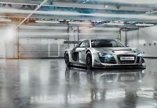 AUDI R8 Le Mans SPORTS CAR SILVER Photo Wallpaper Wall Mural BOYS ROOM 368X254cm