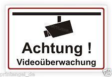Schild Aufkleber Warnschild Hinweisschild VIDEOÜBERWACHUNG Video Kamera Vi81