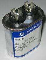"""4 uF AC Motor Run Capacitor - 370 VAC - 50 / 60 Hz - 6% - 1/4"""" Terminals 97F5704"""