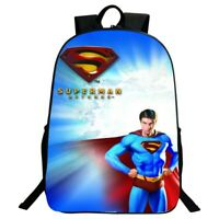 Superhero Backpack Superman Canvas Travel Bags Casual Mellow Dance School Bag