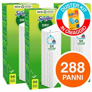 Kit da 288 Swiffer Dry Panni - 3 Confezioni da 96 Ricariche