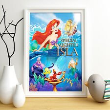 Little Mermaid Ariel Personalised Poster a5 print wall art presque Delivery ✔