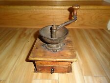 Antique Wood and Metal Coffee Grinder Mill