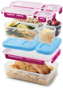 Rubbermaid LunchBlox Large Entree Kit Leak-Proof Lunch Container Beet Pink