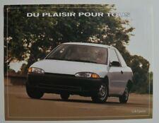 DODGE COLT 1994 dealer sheet brochure - French - Canada