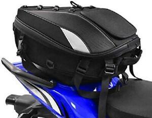 Motorcycle Tail Bag Scooter Luggage Box Motorbike Rear Trunk Bike Backpack Black
