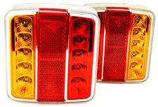 2x Lampe LED Anhänger Rücklicht Rücklicht Blinker gelb Traktor KFZ Schlepper v1