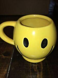 Vintage McCoy Pottery Sunshine Yellow Smiley Face Smile Happy Coffee Mug Cup 3C