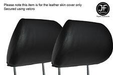 BLACK STICH 2X FRONT HEADREST SKIN COVERS FITS HONDA CIVIC FK2 TYPE S MK8 06-12