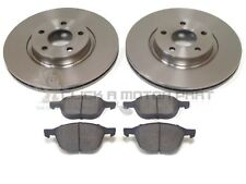 FORD FOCUS MK3 2011-2016 1.0 + 1.6 FRONT 2 BRAKE DISCS & PADS CHECK SIZE CHOICE
