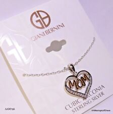 134580c92 Giani Bernini CZ Mom Heart Pendant Necklace Silver & 18k Rose Gold-Plate $85